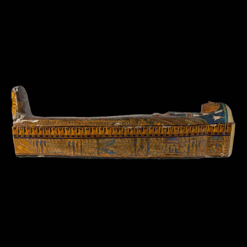 Sarcofago di Firenze in legno dipinto e verniciato