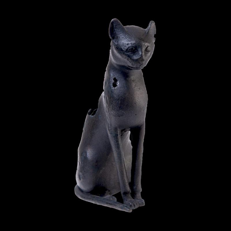 Statuina di gatto in bronzo