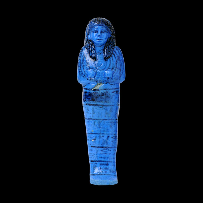 Ushabti in Faience blu